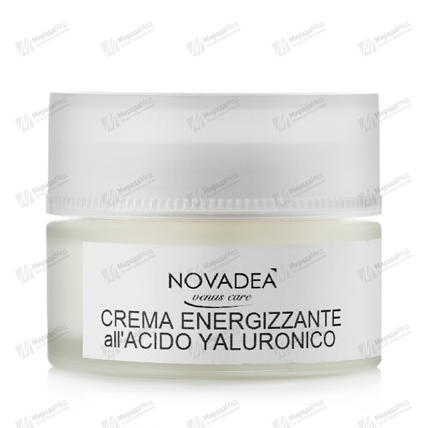 Крем-ревитализант для лица CREMA ENERGIZZANTE ALL'ACIDO YALURONICO Novadea 50ml