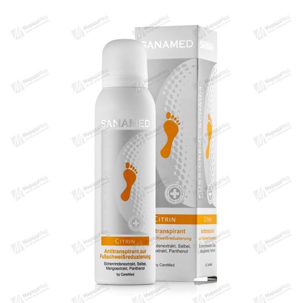 Крем-пена освежающая для влажных ног Sanamed Сitrin150 мл