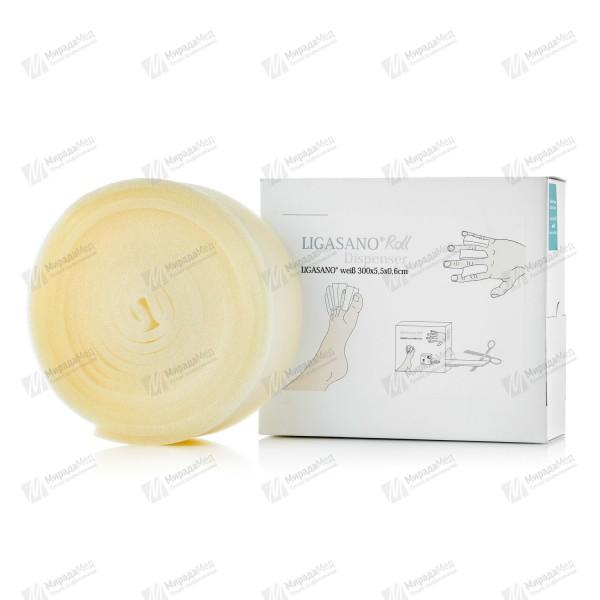 LIGASANO Лигазан белый не стерильный с диспенсером 300х5,5 x 0,6
