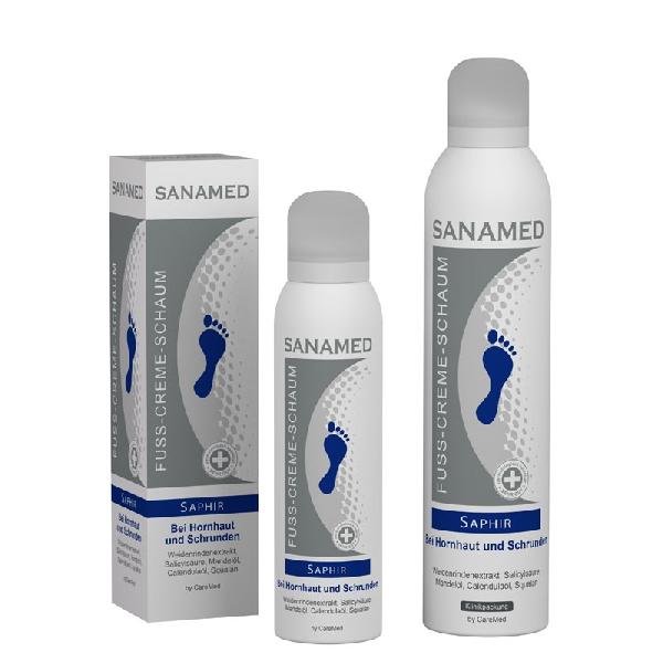 Крем-пена для сухой кожи ног Sanamed Saphir 150 мл