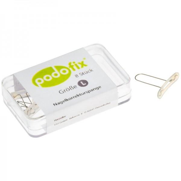 Podofix пластины L   8 шт   в наборе  включая спиртовые салфетки